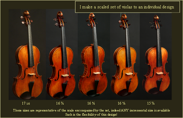 I make a scaled set of violas to an individual design