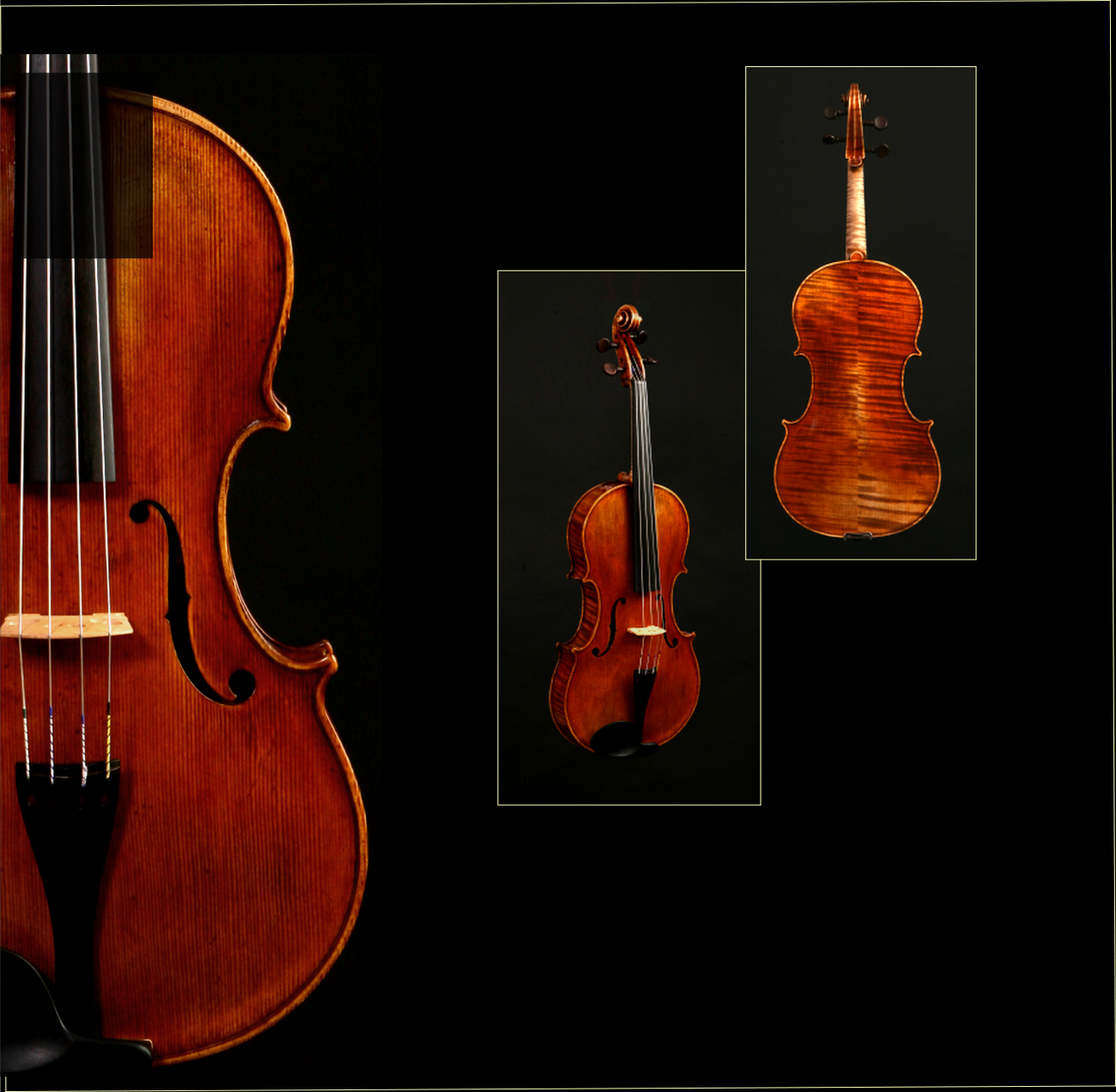 Featured Viola:  16 5/8  in.  Made: 2008  Body length:  15 5/8 in / 42.3 cm  String length: 37.8 cm